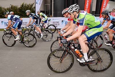 Race Start - Criterium, Elite Men A - Gold Coast Festival of Cycling; Carrara, Gold Coast, Queensland, Australia; 28 September 2013. Camera 1. Photos by Des Thureson - http://disci.smugmug.com.