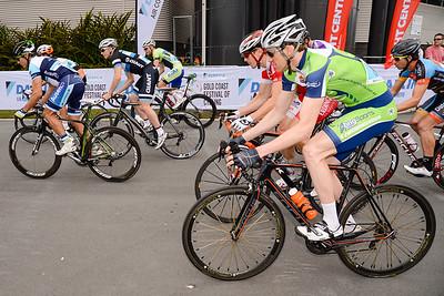 Race Start - Criterium, Elite Men A - Gold Coast Festival of Cycling; Carrara, Gold Coast, Queensland, Australia; 28 September 2013. Camera 1. Photos by Des Thureson - http://disci.smugmug.com.