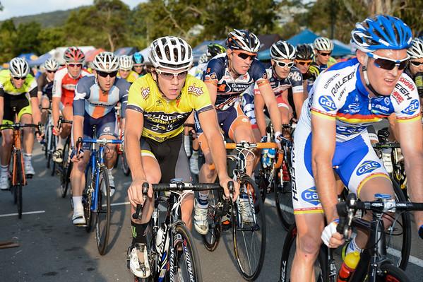 Ryan MacAnally - 2012 Subaru Men's Cycling Grand Prix Criterium; Noosa Heads, Sunshine Coast, Queensland, Australia; 03 November 2012. Photo: Des Thureson. Camera 1.