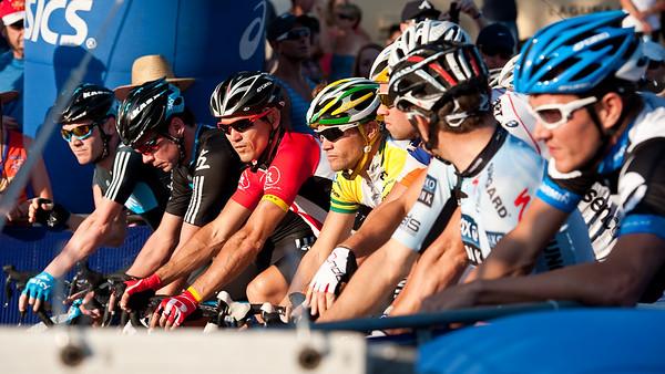 Robbie McEwen, Jonathan Cantwell, Jeremy Hunt, Chris Sutton - Subaru Noosa Men's Cycling Grand Prix Criterium - 2011 Super Saturday at the Noosa Triathlon Multi Sport Festival, Noosa Heads, Sunshine Coast, Queensland, Australia; 29 October 2011.