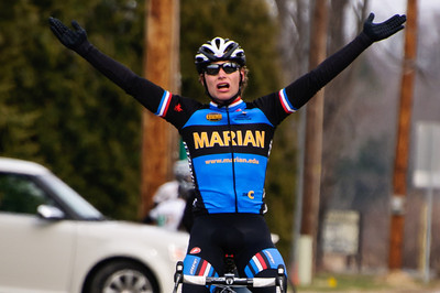 Alder Martz of Marion Universtiy wins the Notre Dame Men's A Road Race March 26th.