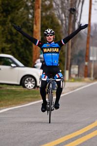Alder Martz wins the Notre Dame Men's A Road Race March 26th.