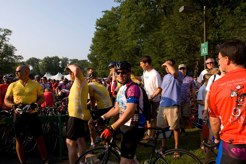 At the start in Wellesley, MA at 7:30am