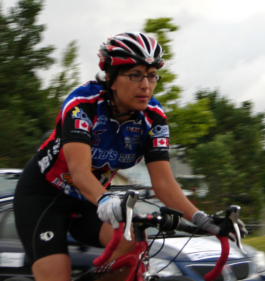 Michelle, in her first proper crit. Good job to her to suffer the way your supposed to suffer in a crit.