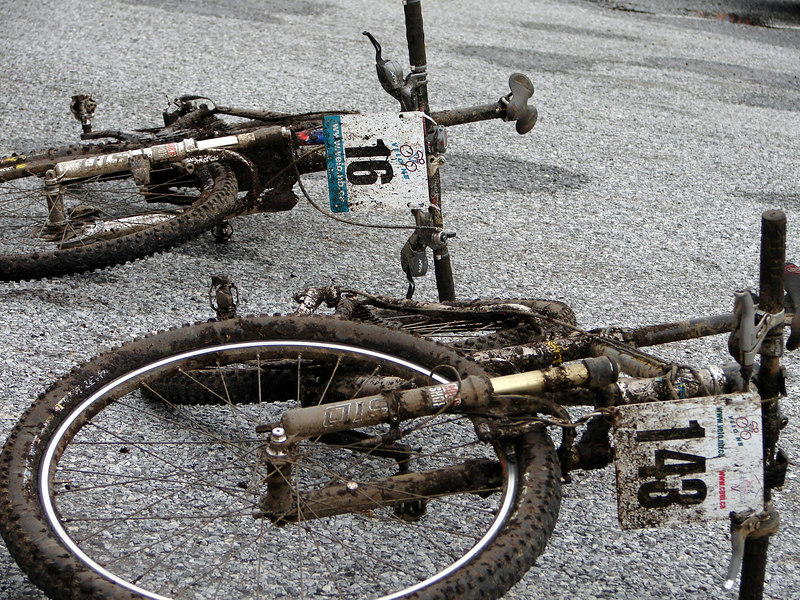 Can't tell whos bikes these are....