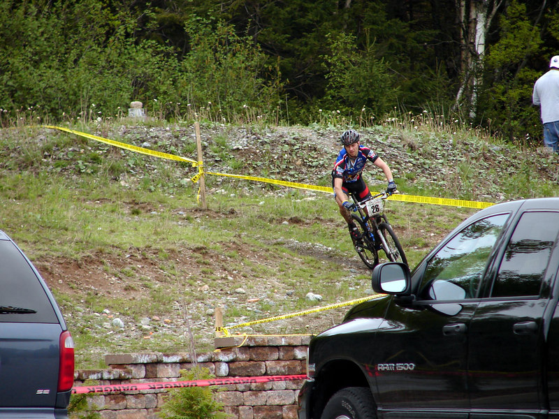 Mike coming to the finish