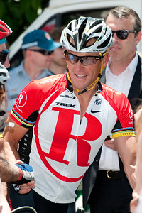 Seven-time Tour de France winner Lance Armstrong - Queensland Ride Relief, led by Lance Armstrong, Robbie McEwen & Allan Davis; Brisbane, Queensland, Australia; Monday 24 January 2011. Photos by Des Thureson - http://disci.smugmug.com