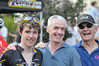 Gavin Mannion, CCB alumny, with his dad Tom and Steve Pucci, CCB Racing Team DS .
