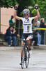 Amanda Miller of HTC Highroad wins the women's 2011 Snake Alley Criterium for the fourth year in a row.