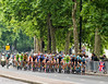 With Team Sky to the fore, the peloton takes up the chase