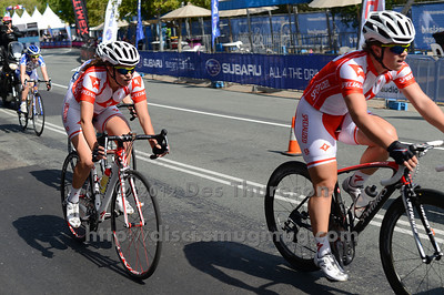 2012 Subaru Women's Cycling Grand Prix Criterium; Noosa Heads, Sunshine Coast, Queensland, Australia; 03 November 2012. Photo: Des Thureson. Camera 1. - The images in this gallery have not been edited / cropped. If you purchase* a print or download, these images will be edited / corrected / cropped before being sent out. *Ordering will be via http://disci.photoshelter.com or via email. Thanks, Des.