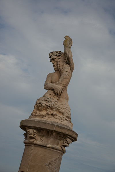 Neptune waving to our intrepid visitors - but the real question is 'did they wave to him?'