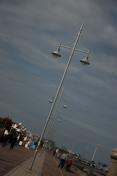 Ornate lighting on Lowestoft prom