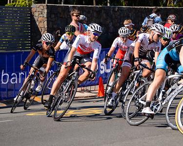 Subaru Women's Australian Open Criterium (Cycling) - 2013 Super Saturday at the Noosa Triathlon Multi Sport Festival, Noosa Heads, Sunshine Coast, Queensland, Australia. Camera 1. Photos by Des Thureson - http://disci.smugmug.com