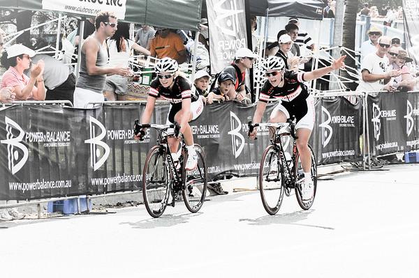 Noosa Women's Cycling Grand Prix - Noosa Triathlon Multi Sport Festival - Sunshine Coast, Queensland, Australia. Saturday 30 October 2010. (Matt's High Key Effect 3 (Highest))