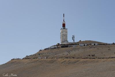 Tour de France 2009 : Arrivée au sommet du Mont Ventoux.