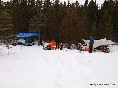 Camp IV  near base of the Eagle Mtn.   We are still able to breath without oxygen bottles.