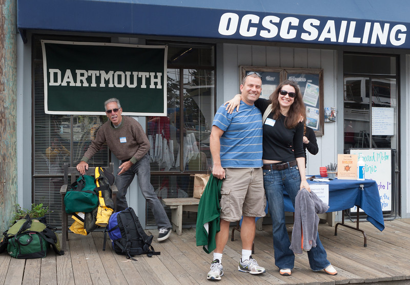 We gathered before the sail at the Olympic Circle Sailing Club at the Berkeley Marina.  (C) George Hamma 2012