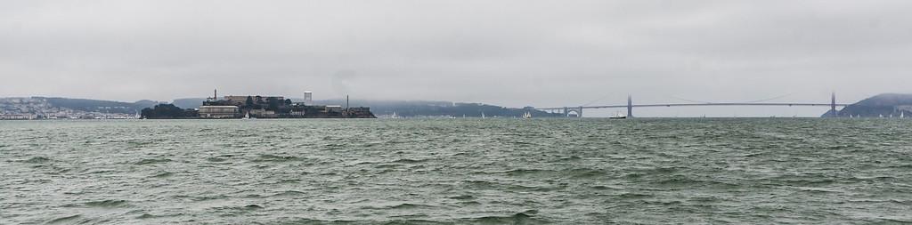 Alcatraz Island and the Golden Gate in San Francisco Bay.  (C) George Hamma 2012