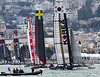 DAASV at America's Cup World Series 08/23/12 : In September, San Francisco hosted the first of two America's Cup World Series.  The Dartmouth Alumni Association of Silicon Valley, along with the local Harvard and Brown alumni clubs, held a special event on the Seaward, an 82-foot schooner arranged through the Olympic Circle Sailing Club in Berkeley, CA.  The day's festivities was sponsored by Appleton Estate Rum.  The racing was terrific along the shore by Marina Green.  The companions were excellent, and sailing on San Francisco Bay is always a delight.  Participants are welcome to download and use images from this gallery.  If photos are published a photo credit to the photographer would be appreciated. Photos (C) George Hamma 2012 as marked.