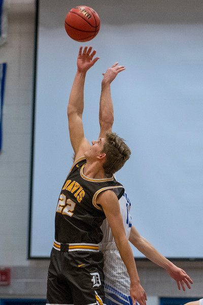 Davis battle Fremont during the boys prep basketball game. In Plain City, on Friday January 3, 2020.