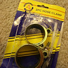 Gamble I took at my friendly neighborhood dollar store (though everything is now $1.09, that's still okay). 2-pc hose clamps with no indication about size of thread of the screw.