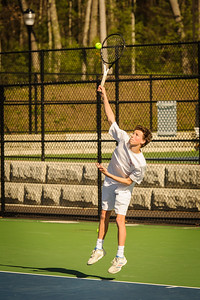 Varsity tennis between Manchester Memorial HS and Derryfield held on May 6, 2019 at the SNHU in Manchester, NH.