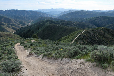 Looking back at the climb accomplished thus far in the wide open vistas.