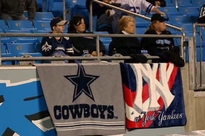 """Cowboys and Yankees ain't too popular around here!"" someone yelled. I turned around to see these fans."