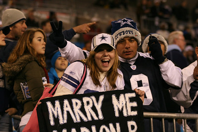 A Cowboy fan seeks to wed Marion Barber.