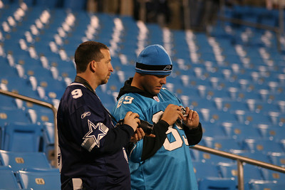 Upon entering Bank of America Stadium, fans from both teams speak in hushed tones and seem to have to spend a moment getting used to it. The noise comes later.