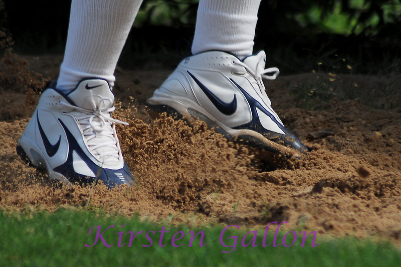 Pat's feet kicking up a little sand during the drill.