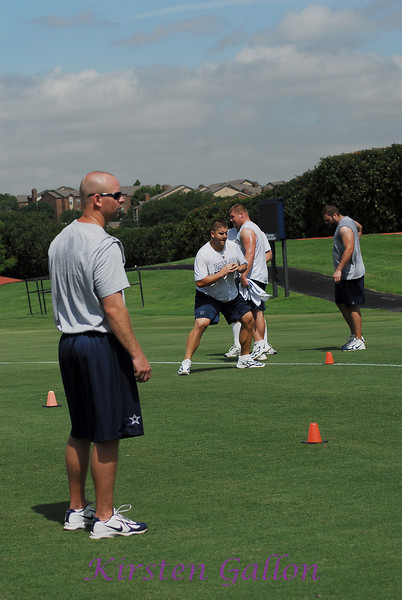 Next, they move to the field for work between cones for more side to side footwork and hip flexor movement.