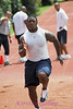 Deon Anderson shows great sprinting form as he heads up the hill.