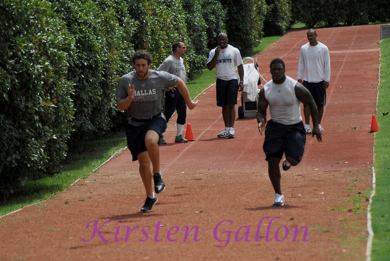Moving on to the track to do short sprints uphill.