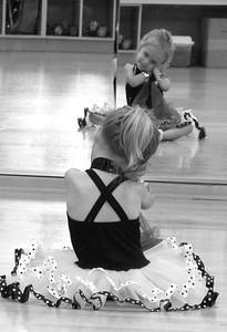 Dona & Liza 2011 06 at First Dance Class 70 bw