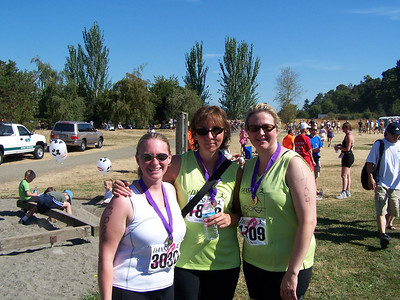 Kellie, Terri and Susie after the race