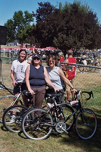 Joan, Jean and WIlma ready to rack our bikes