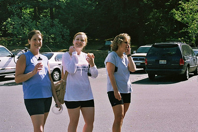 """Sara, Andrea and Wilma after our """"mini-tri"""""""