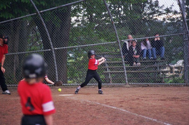 Anna F. at bat