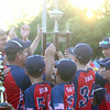 6-26-14<br /> Kasey Championship<br /> McPike celebrates with the trophy after winning the Kasey championship.<br /> Kelly Lafferty | Kokomo Tribune