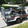 Kawasaki Ninja motorcycle - ready to head back to UW/Madison