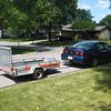 empty trailer - ready for our Kawasaki Ninja motorcycle