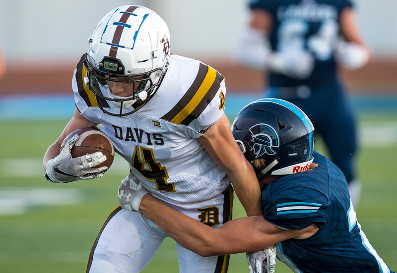 Davis takes on Layton High School during the prep football game. In Layton on Friday September 13, 2019.