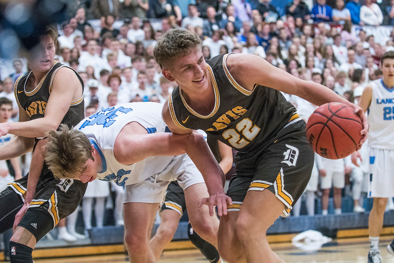 Layton edges out Davis 60-52 at the boys prep basketball games. At Layton High School, on Friday January 17, 2020.