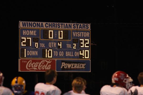 Winona  10-8-2010 WON 32-27