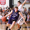 12-6-13<br /> Western vs. Northwestern HS basketball<br /> Northwestern's Jacob Wagner and Western's Gabe Harp<br /> KT photo | Kelly Lafferty