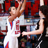 12-10-13<br /> Kokomo vs. Western basketball<br /> Kokomo's Cierra Tinder shoots for the basket.<br /> KT photo | Kelly Lafferty