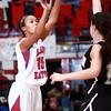 12-10-13<br /> Kokomo vs. Western basketball<br /> Kokomo's Cierra Tinder shoots for the basket.<br /> KT photo   Kelly Lafferty
