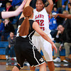 12-10-13<br /> Kokomo vs. Western basketball<br /> Kokomo's Jasmine Love looks for a pass as Western plays defense.<br /> KT photo | Kelly Lafferty